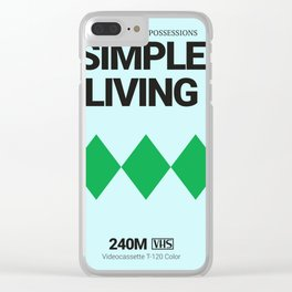 SIMPLE LIVING #4 Clear iPhone Case