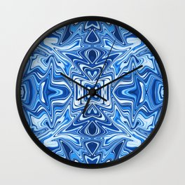 65 - Psychedelic Blues Wall Clock