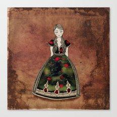 La Señora de las Flores Canvas Print