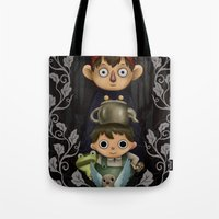 over the garden wall Tote Bags featuring Over the Garden Wall. by toibi