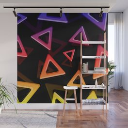 80's Triangles Wall Mural