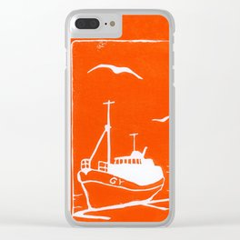 Comrades in Orange Clear iPhone Case