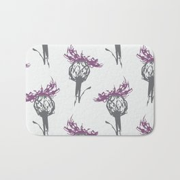 Gray and Purple Thistle Bath Mat