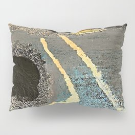 The Golden Path - an abstract, textured piece in neutrals by Jacob von Sternberg Art Pillow Sham