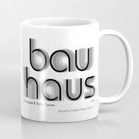 bauhaus Mugs featuring ITC Bauhaus by Ana Guillén Fernández