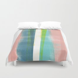 Colorful Geometric Abstract Minimalist Monotype 2 Duvet Cover