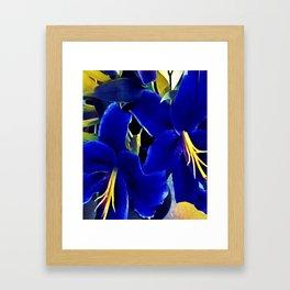 Blue Lilies Framed Art Print