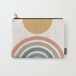 Mid-Century Modern Rainbow Carry-All Pouch