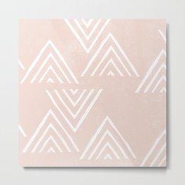 The Mountain Top - Peach Metal Print