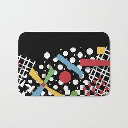 Ticker Tape Geometric Bath Mat