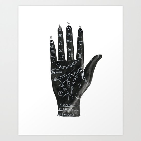 Palmistry no.1 Art Print