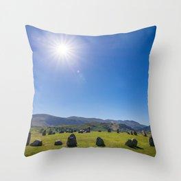 Castlerigg Stone Circle in English Lake District Throw Pillow