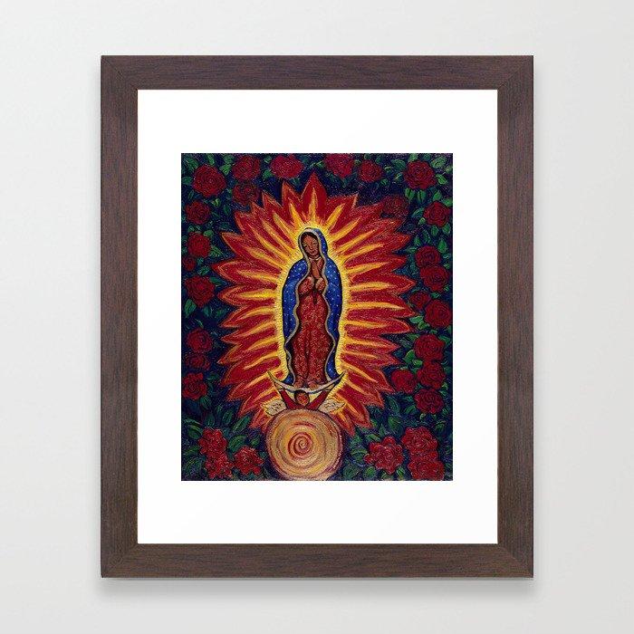 Virgin de Guadalupe Framed Art Print