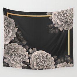 Flowers on a winter night Wall Tapestry