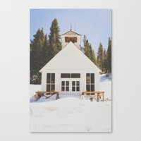 elmo Canvas Prints featuring St. Elmo Town Hall by Carrie Baker