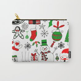 Happy Christmas Doodles Carry-All Pouch