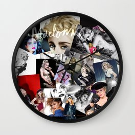 Madonna Collage-Ish. Wall Clock