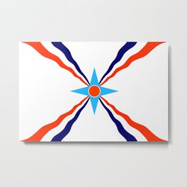 Assyrian people  ethnic flag Metal Print