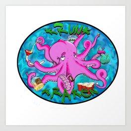 The Krunk Kraken  Art Print