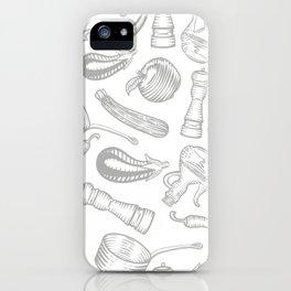 Seamless pattern kitchen iPhone Case