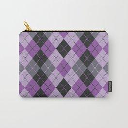 Purple Argyle Carry-All Pouch
