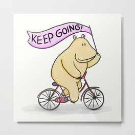 Keep going hippo! Metal Print