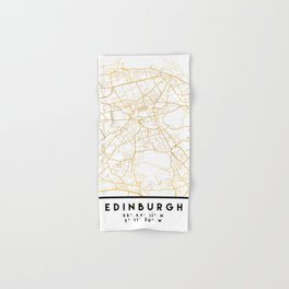 EDINBURGH SCOTLAND CITY STREET MAP ART Hand & Bath Towel