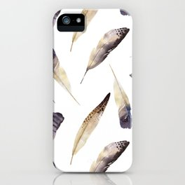 Watercolor_feather iPhone Case