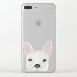 French Bulldog, FRENCHIE, Dog Clear iPhone Case