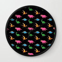 COLORFUL DINOSAURS Wall Clock