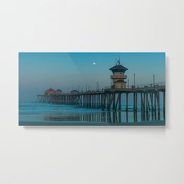 Full Moon Over Zero Metal Print