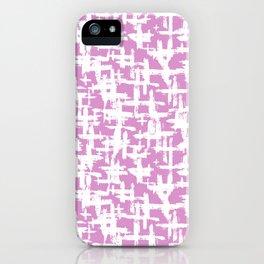 Brush cross on  pink iPhone Case