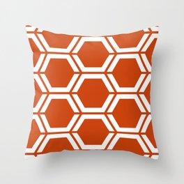 Sinopia - orange - Geometric Polygon Pattern Throw Pillow