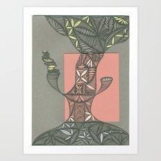 Tree Sitter Art Print