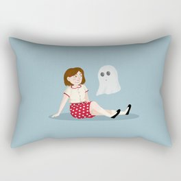 The Girl and the Ghost Rectangular Pillow