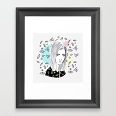 you are my geometric desire... Framed Art Print