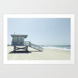 Hermosa Beach Lifeguard Tower 19 Art Print