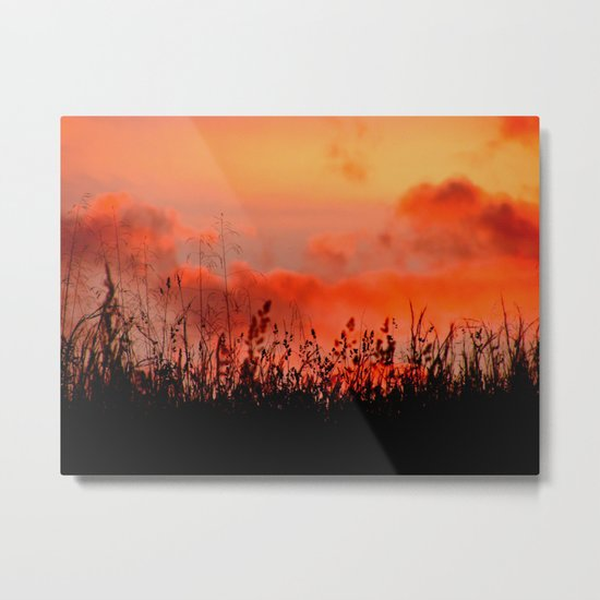 Rainbow Sundown Metal Print