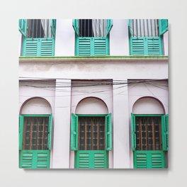 Open Windows - Kolkata Metal Print