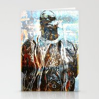 biggie smalls Stationery Cards featuring Biggie by Quil Soul
