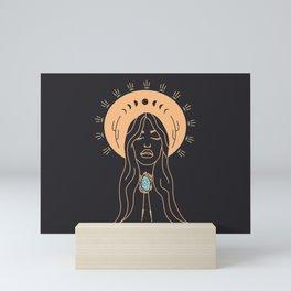 Desert Angel in Peach & Grey Mini Art Print