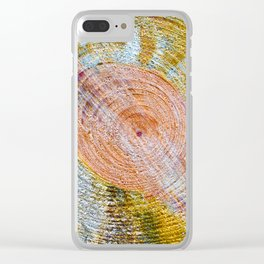 Rings of Time  No.2 Clear iPhone Case