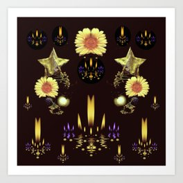 Stars Over The Sacred Sea Of Candles Art Print