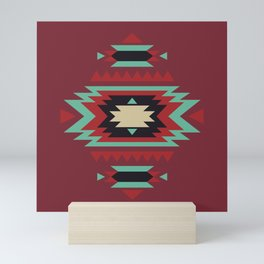 Geometric Tribal Indian Abstract Pattern Mini Art Print