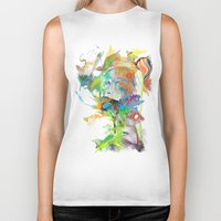 archan nair Biker Tanks featuring Morning Echo by Archan Nair
