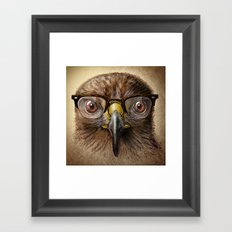 Hipster Eagle Framed Art Print