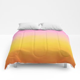 Painterly Gradient - Rich Sunset Variant Comforters