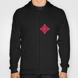 ornament red pink Hoody