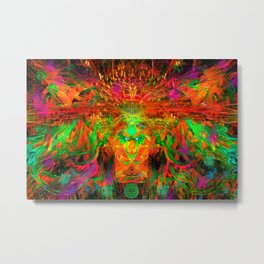 The Flying Shaman (Tribal Zest) Metal Print