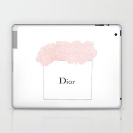 shopping bag with pink flowers Laptop & iPad Skin